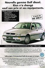 Publicité advertising 1995 VW Volkswagen Golf