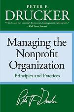 Managing the Nonprofit Organization, Drucker, Peter F., Acceptable Book