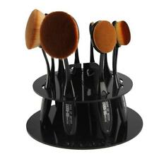 10 Hole Oval Makeup Brush Holder Drying Rack Organizer Stand Cosmetic Shelf Tool