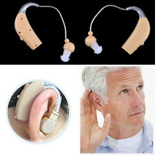 New Rechargeable Hearing Aids Personal Sound Voice Amplifier Behind The Ear LO