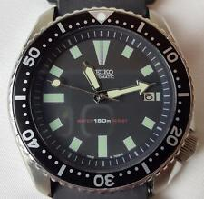 Excellent Condition Automatic Seiko Diver Vintage watch 7002 Black SERVICED! WOW