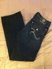 "Mens ROCK & REPUBLIC ""TAYLOR"" EUC Rear Pocket Flap Button Flt Boot Cut"