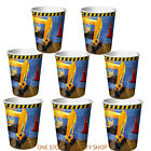8 Under Construction Birthday Party Cups-Kids Parties/Boys Party Supplies