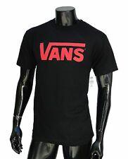 Vans Skateboard Co. Classic Logo Black/Red Mens T shirt Size Xlarge