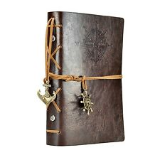 7Inches x5Inches Vintage Retro Leather Cover Notebook Journal Blank String Na...