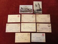 8 MAGYAR POSTA Postal Cards 1880s Hungary to Vienna Austria + Two Photo Postcard