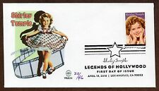 SHIRLEY TEMPLE ~ LEGEND OF HOLLYWOOD STAMP ~ WILSON CACHET ~ FDC ONLY 46 MADE