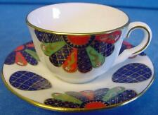 ROYAL WORCESTER THE FAN LIMITED EDITION IMARI STYLE MINIATURE CUP & SAUCER