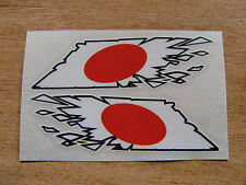"Japanese Flag  ""ripped"" style stickers - 150mm decals x2  JDM"