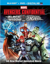 Avengers Confidential Black Widow & Punisher NEW Bluray/DVD/case/cover-no digita