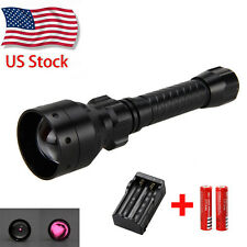 Long Range OSRAM Infrared IR 850nm LED Hunting Light Night Vision Torch 18650 US