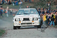 Bjorn Waldegard Hand Signed 12x8 Photo Toyota Rally.