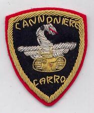 TOPPA O PATCH CARRISTI - CANNONIERE CARRO - IN CANOTTIGLIA SU FONDO ROSSO
