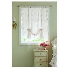 Simply Shabby Chic Ruffle Window Panel Rose Print (1) ONLY! Cotton Cottage