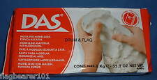 DAS - MODELLING CLAY - WHITE - AIR HARDENING 1000g. MODEL MATERIAL. 1KG BLOCK