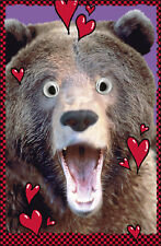 Bear Wobby Eyes Valentine's Day Card Funny Rude Valentines Greeting Cards