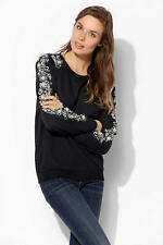 Urban Outfitters Women's Staring At Stars Black Quilted Pullover Sweatshirt M
