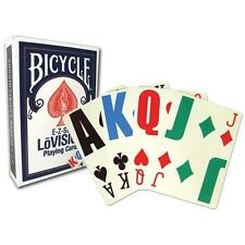 1 Deck Blue Bicycle Lo Vision Easy to See Playing Cards Lovision E-Z Large Index