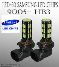 JDM 9005 HB3 Samsung LED 30 SMD White 6000K Headlight 2x Lamp Bulb High Beam I25