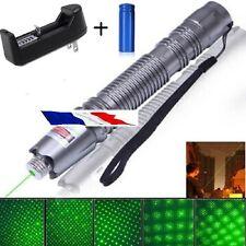 Ultra Puissant Pointeur laser gris stroboscope 1mw vert+batterie+chargeur