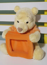 WINNIE THE POOH PLUSH TOY PHOTO FRAME HOLDER! BABY NURSURY! DISNEY! 23CM TALL