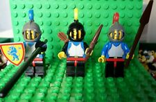 Vintage Lego Castle Knight Mini Figures 1984   x3   ref 400