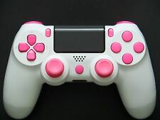 New Custom Matte White & Pink PS4 Playstation 4 Controller w/ Xbox One Sticks