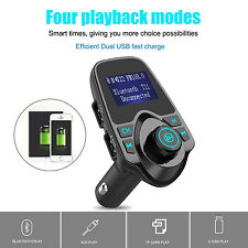 Wireless Bluetooth FM Transmitter Car Kit 1.44 Inch Display 2.1A USB Car Charger