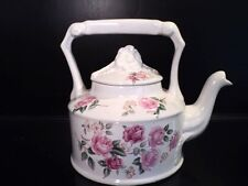 Arthur Wood & Son Staffordshire England Roses 6330 Individual Teapot vintage