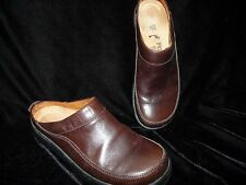 Footprints by Birkenstock Brown Leather Clogs Mules size 37