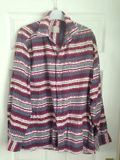 VINTAGE RETRO AZTEC URBAN TRIBAL NAVAJO OVERSIZED FESTIVAL SHIRT IBIZA UK MEDIUM