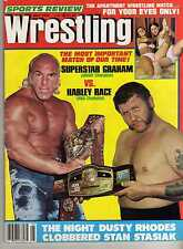 SPORTS REVIEW WRESTLING MAY 1978 DUSTY RHODES SUPERSTAR GRAHAM HARLEY RACE WWF