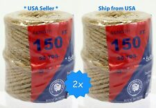 2x 150' natural Twisted Jute rope Twine String Rope Bird Parrot Toy Craft Part