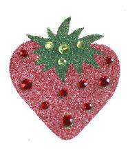 Glitzy Red/green Diamanté Encrusted Strawberry Body Jewel(B4/zx228)