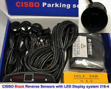CISBO Black Colour Reverse Parking 4 Sensor Kit Audio Buzzer Alarm LED Display
