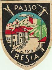 Z14011-PASSO RESIA, BOLZANO, LUGGAGE-LABEL-ETICHETTA