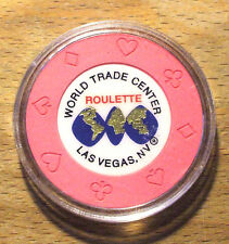 World Trade Center Casino - ROULETTE Chip - Pink- LAS VEGAS- Shipping Discounts