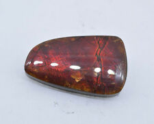 17.19 CT AMMOLITE, FREE-FORM SHAPE, NICE REDS, ORANGES, GREENS