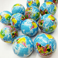 Mini Funny World Map Foam Earth Globe Stress Bouncy Ball Atlas Geography Toy