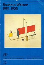 Christian Schädlich, Bauhaus Weimar 1919 - 1925, Weimarer Schriften 35, DDR 1989