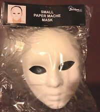 White Paper Mache Mask DIY Costume Accessory