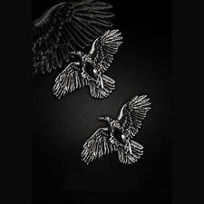 Restyle Black Diamond CORVI-Coppia di Gotico Hairclips. pietre sintetiche nero