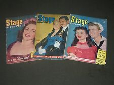 1945 & 1946 STAGE PICTORIAL MAGAZINE LOT OF 3 - NICE COVERS & PHOTOS - II 3141