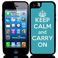 Turquoise Keep Calm and Carry On For Iphone 6 Case Cover