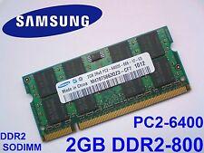 2GB DDR2-800 PC2-6400 SAMSUNG M470T5663QZ3-CF7 800Mhz LAPTOP RAM ARBEITSSPEICHER