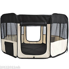 """49.2"""" Soft Pet Playpen Puppy Dog Pen Portable Exercise Crate w/ Carry Bag"""