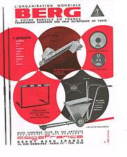 PUBLICITE   1967    BERG   organisateur  des stades des JEUX OLYMPIQUES
