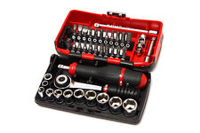 "Facom R2NANO 1/4"" Drive Metric Socket and Bit Set 5.5-14mm 38 Piece"