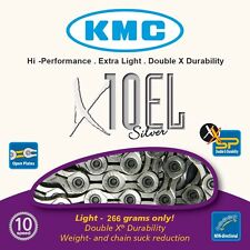 KMC X10EL Bike Chain Extra Light 10 Speed Cycle Chain Silver KMCX10ELS