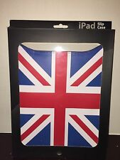 NEW iPad Slip Case Red/ Blue/White Union Jack Flag Design Faux Leather